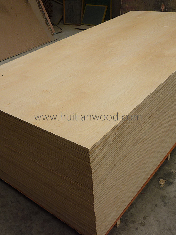 100% Natural White Birch Plywood for Furniture
