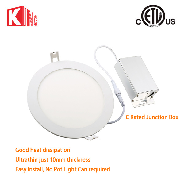 8W 12W Round LED Panel Light Cool White 6000-6500k AC85-265V