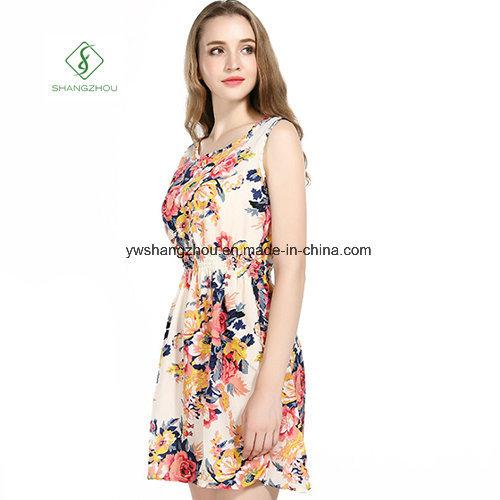 2017 Fashion Chiffon Printed Beach Dress Sexy Maxi Dress Factory