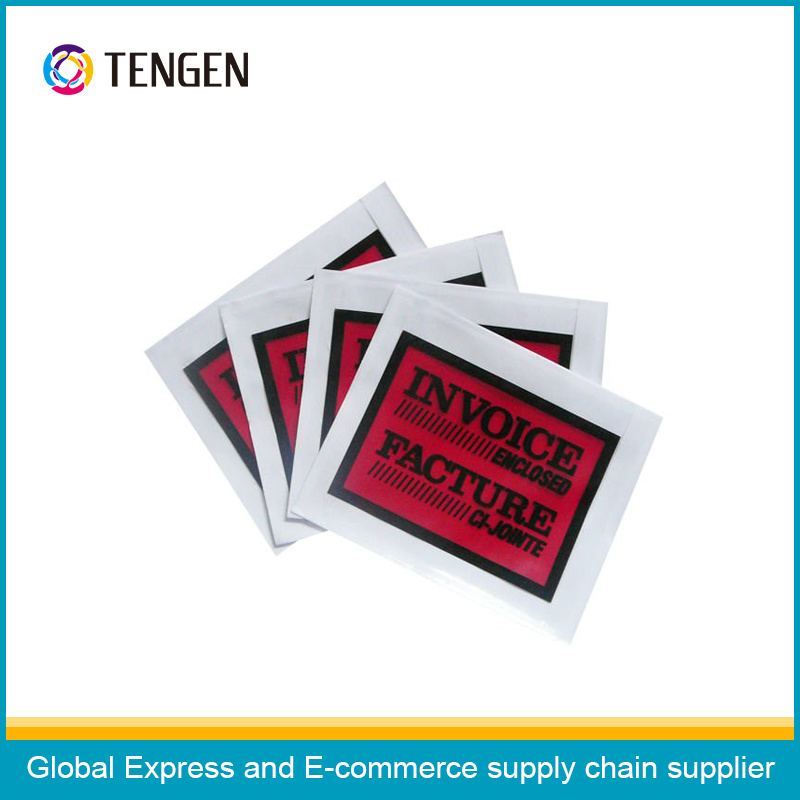 Custom Water Proof Express Use Plastic Packing List Envelopes