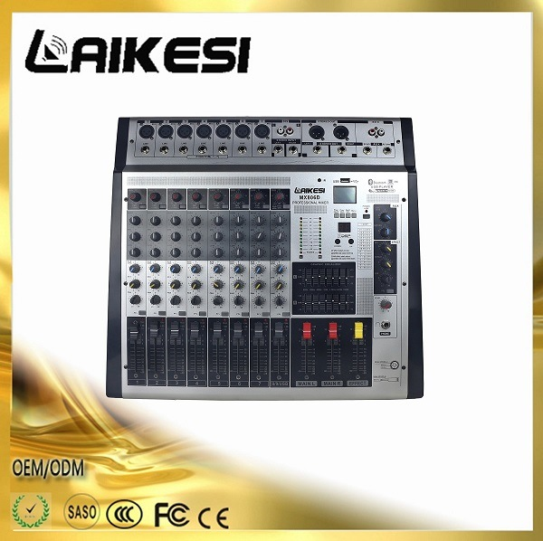 Mx806D 8 Channels Audio Mixer with Amplifier