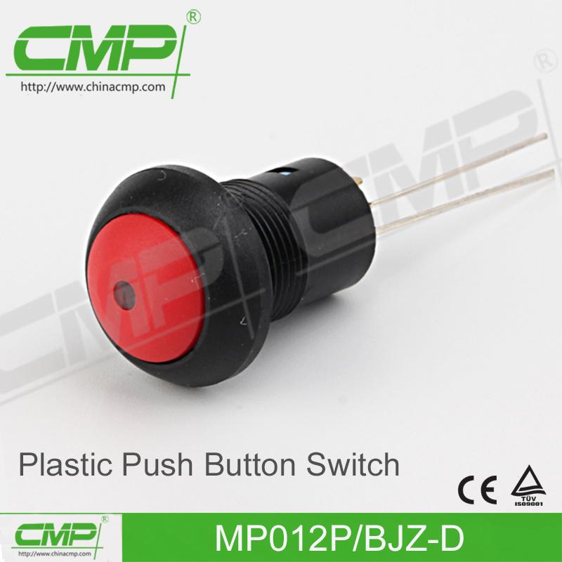 Small DOT Illuminated Push Button Switch (12mm, Plastic)