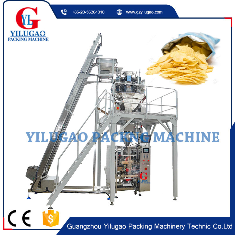 Potato Chips Snack Bean Rice Granule Packaging Machine