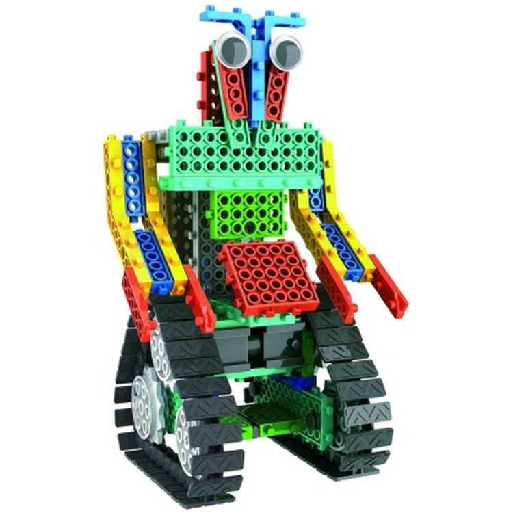 1488726-2 in 1 Warrior Battle Robot Block Kit Remote Control RC Blocks Set Education Creative Toy 137PCS - Color Random