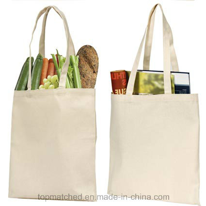Blank Canvas Tote Shopping Bag with Printing