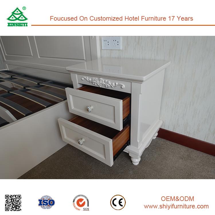 White Modern Bedroom Furniture Wood Nightstand