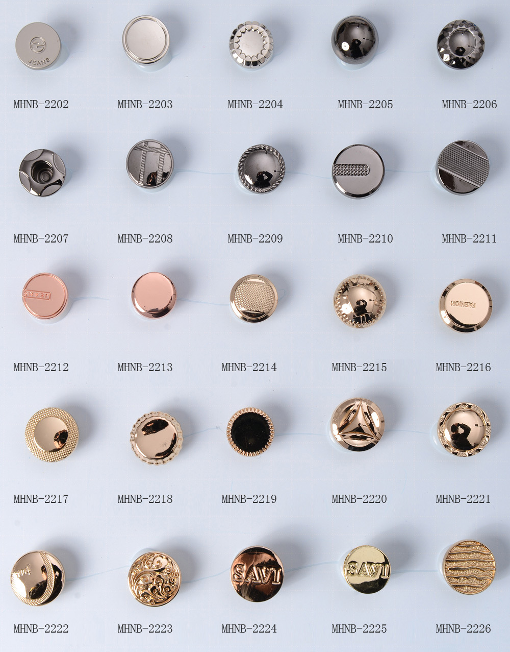 Fashion Metal Jeans Buttons