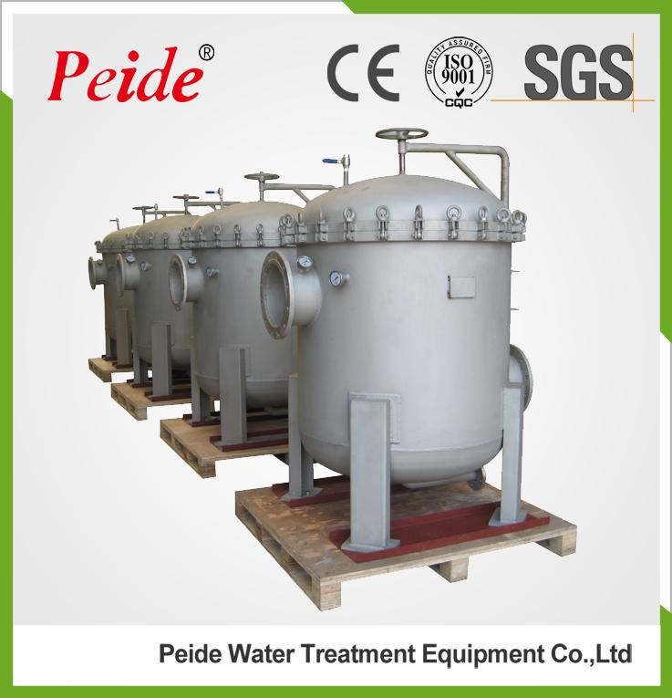 304 Stainless Steel Industrial Liquid Bag Filter Housing