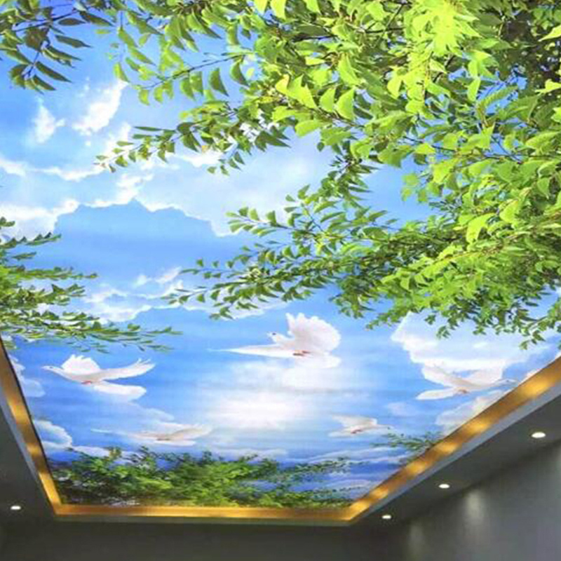 High Quality Cloud and Glossy Stretch Ceiling Film Printing