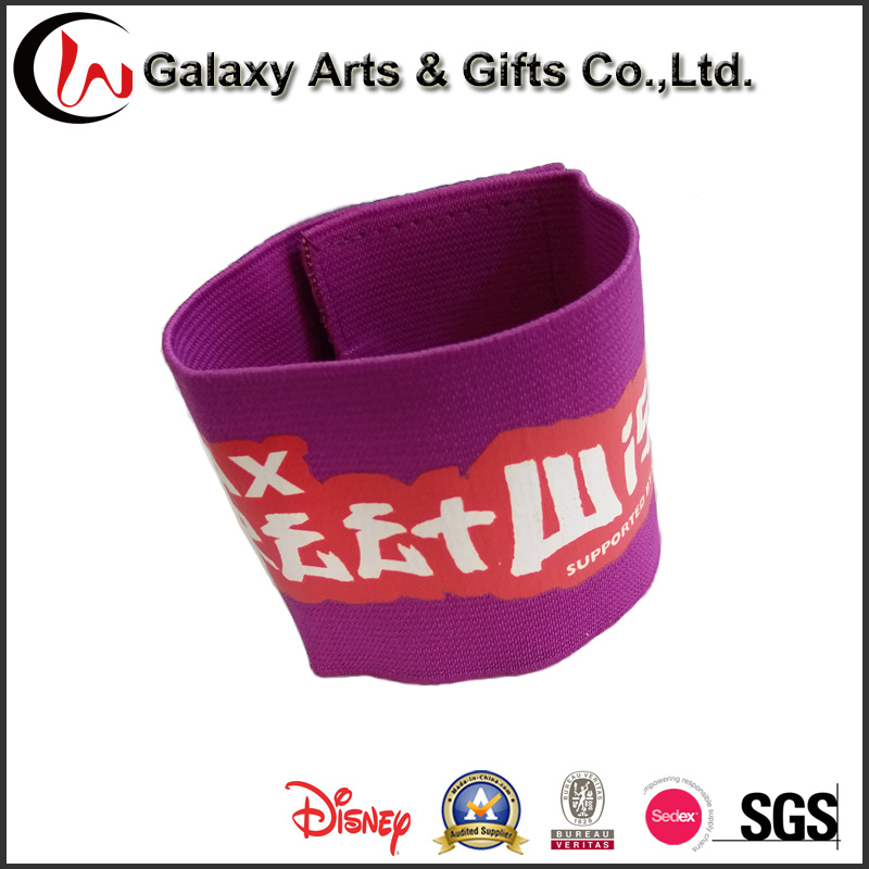 Universal Silk Screen Printing Polyester Sport Elastic Armband