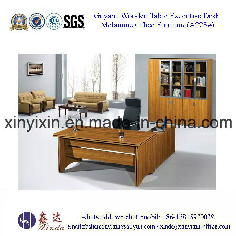 Foshan Factory Wooden Furniture Melamine Executive Office Desk (BF-002#)
