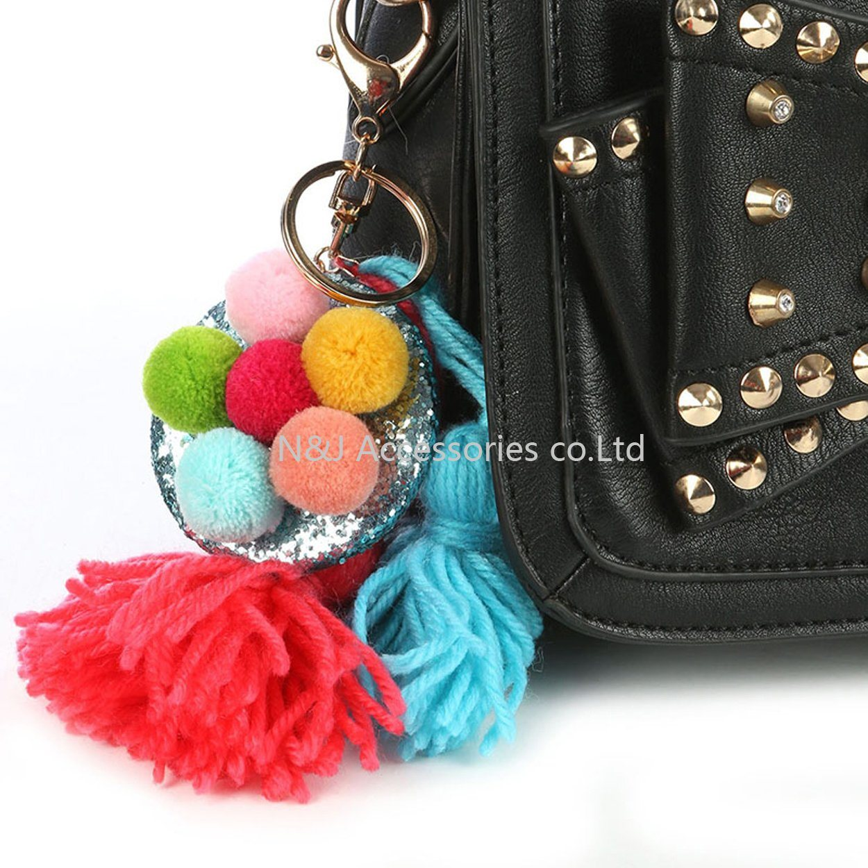 Tassels Badge Bag Accessory Key Chain for Women Jewelry Gift
