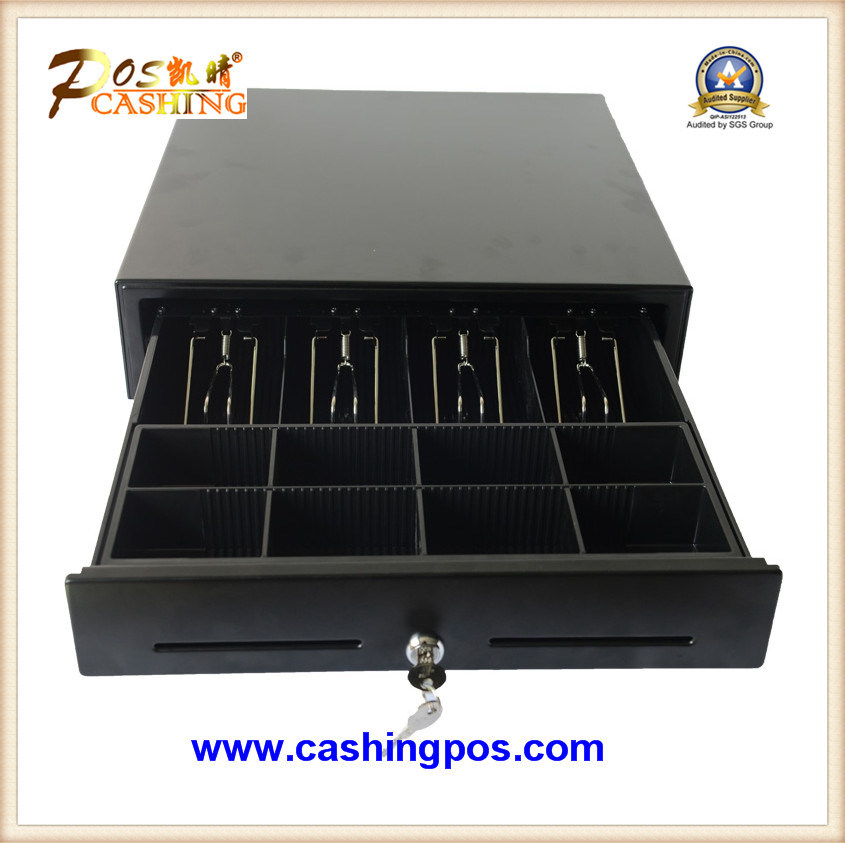 Black Cash Drawer with Steel Top Plate Secc Inside