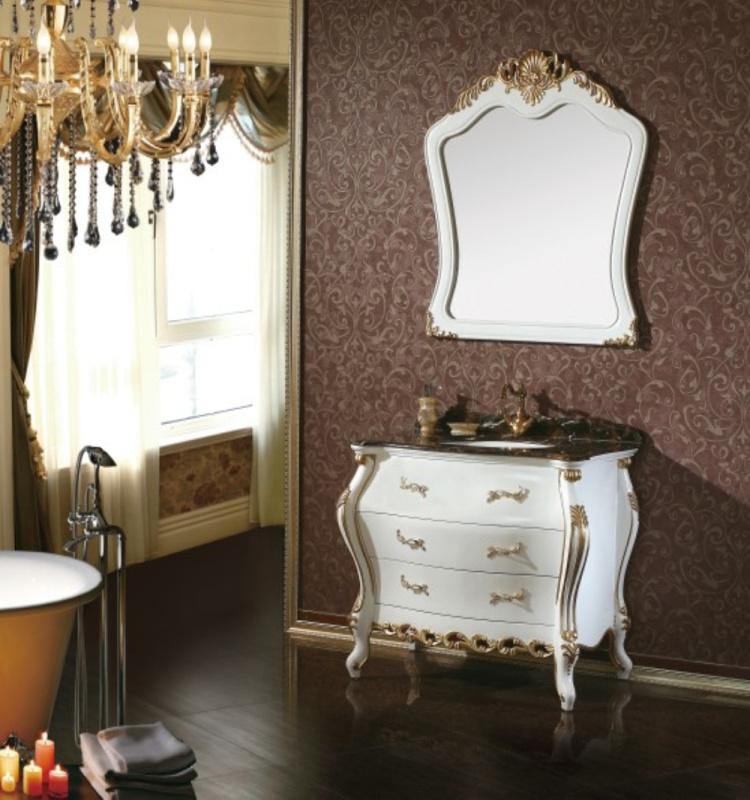 Solid Oak Wood Single Sink Antique Bathroom Vanity