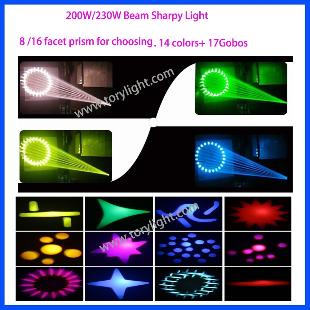 DJ Light Claypaky Sharpy 200W Beam Moving Head