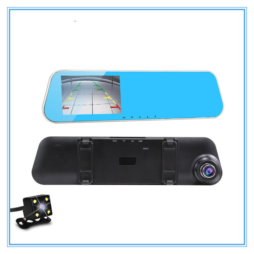 Full HD Rear View Mirror Dvrs Video Recorder WiFi Car DVR