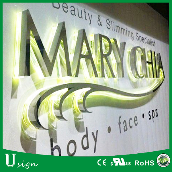 Outdoor Large LED Letters Stainless Steel Signs LED Illuminated Channel Letters
