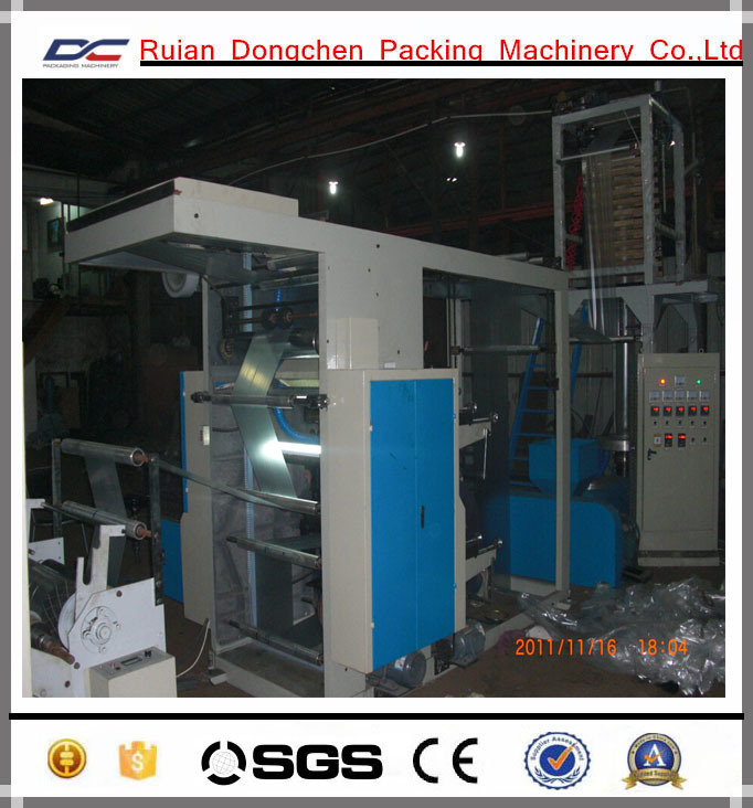 PE Film Extrusion Machine with Flexo Printing Machine Inline (DC-SJ600)