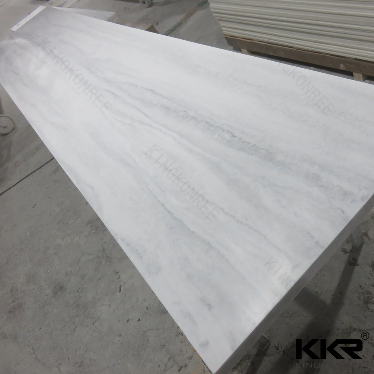 12mm Pure White Artificial Stone Acrylic Solid Surface