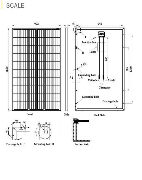 275W Poly Solar Panel German Quality