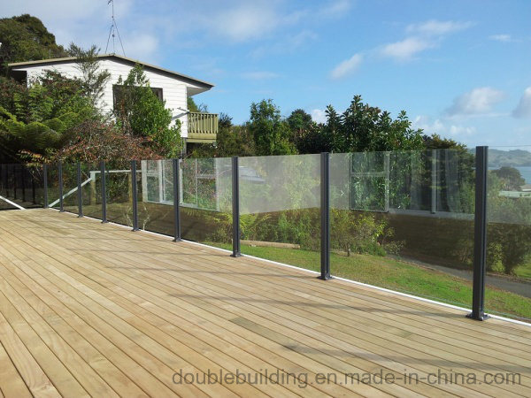 Aluminum Frameless Glass Balustrade Aluminum Slot Post