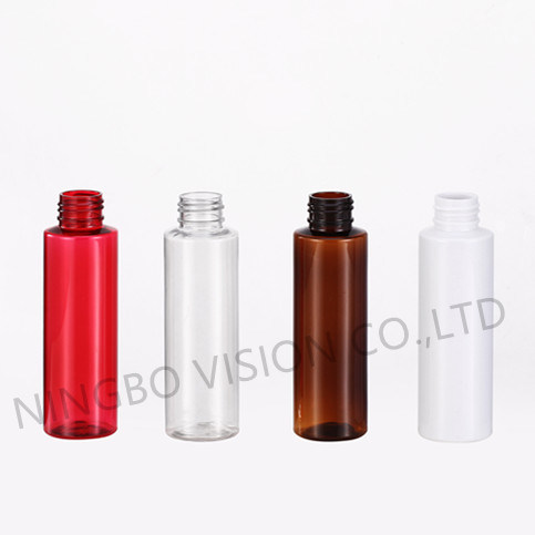 Empty 100ml Round Pet Plastic Cosmetics Cleanser Skin Care Lotion /Spray Plastic Bottle