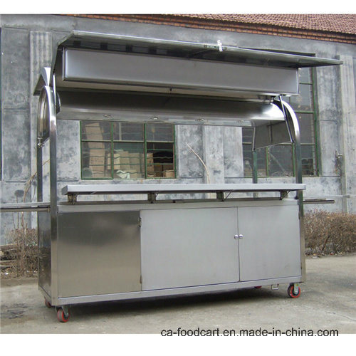 Hand Push Mobile Food Kiosk Cart for Snack Food