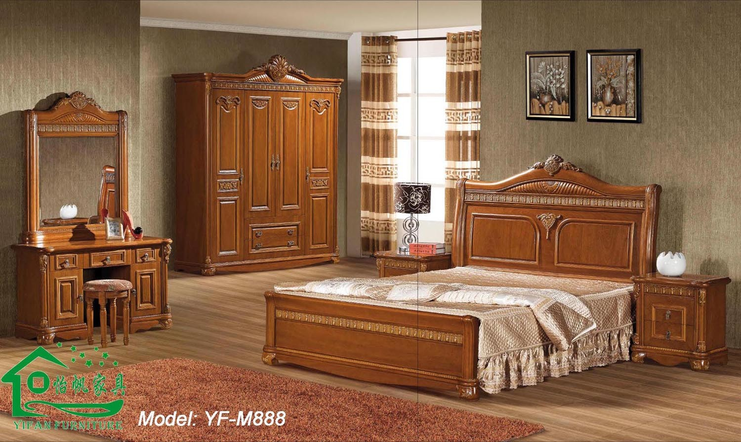 china wooden bed for home furniture and adult bed yf m888