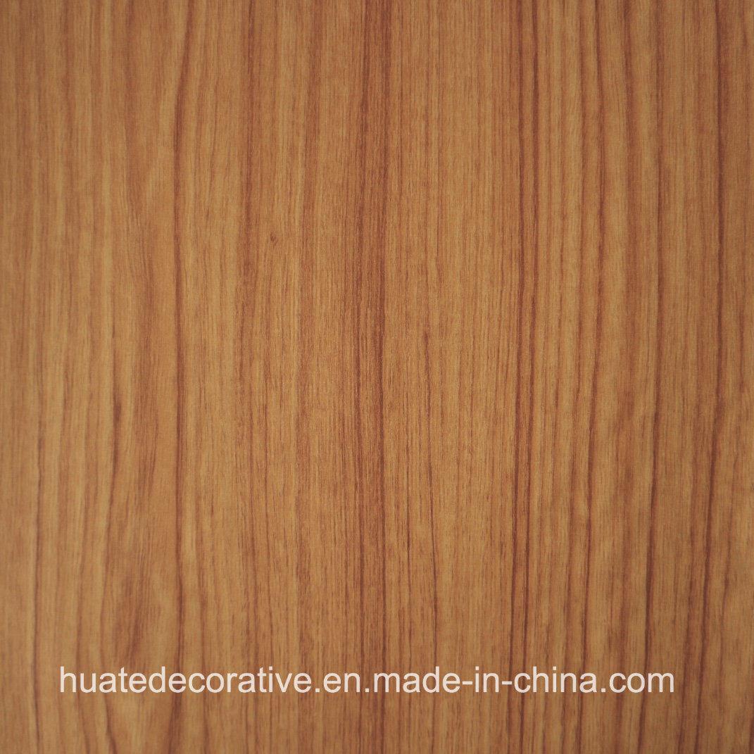 Wood Grain Decorative Melamine Paper for Plywood, MDF, Laminate Board, Teak Wood