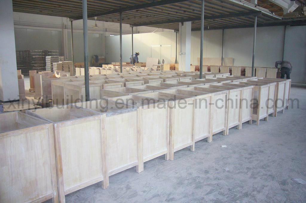 Sanitary Ware Furniture with Glass Wash Basin