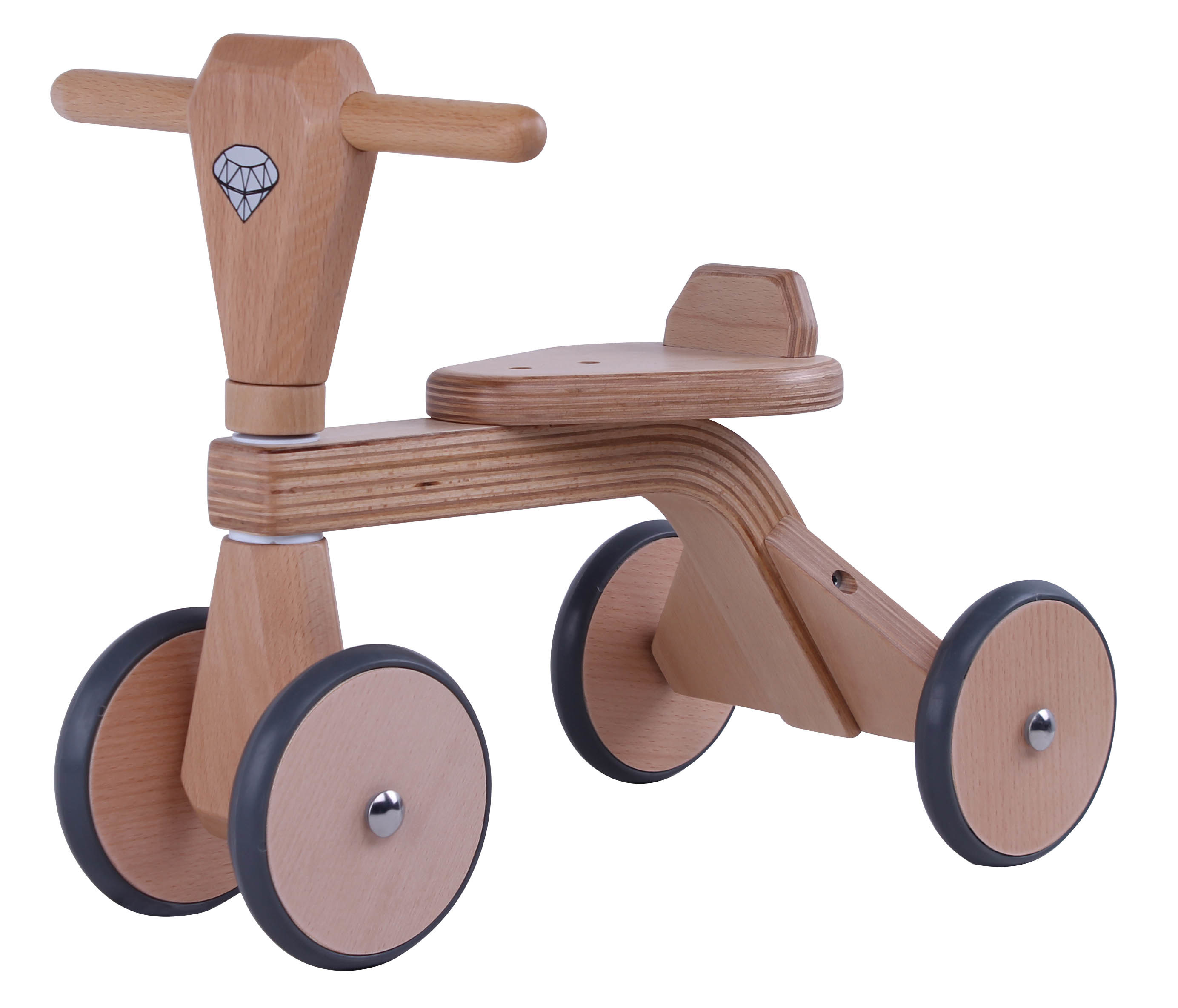 High Quantity Beech Plywood Wooden Baby Tricycle, Ride on Toys