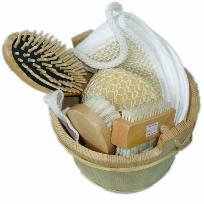 Funny Travel Promotion Gift SPA Bath Set with Barrel (JMHF-114)
