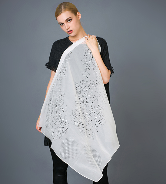 Silk Laser Cutting Scarf