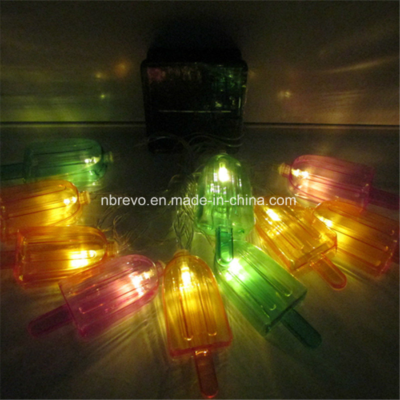 10 LED Solar Powered Icecream String Light (RS1024)