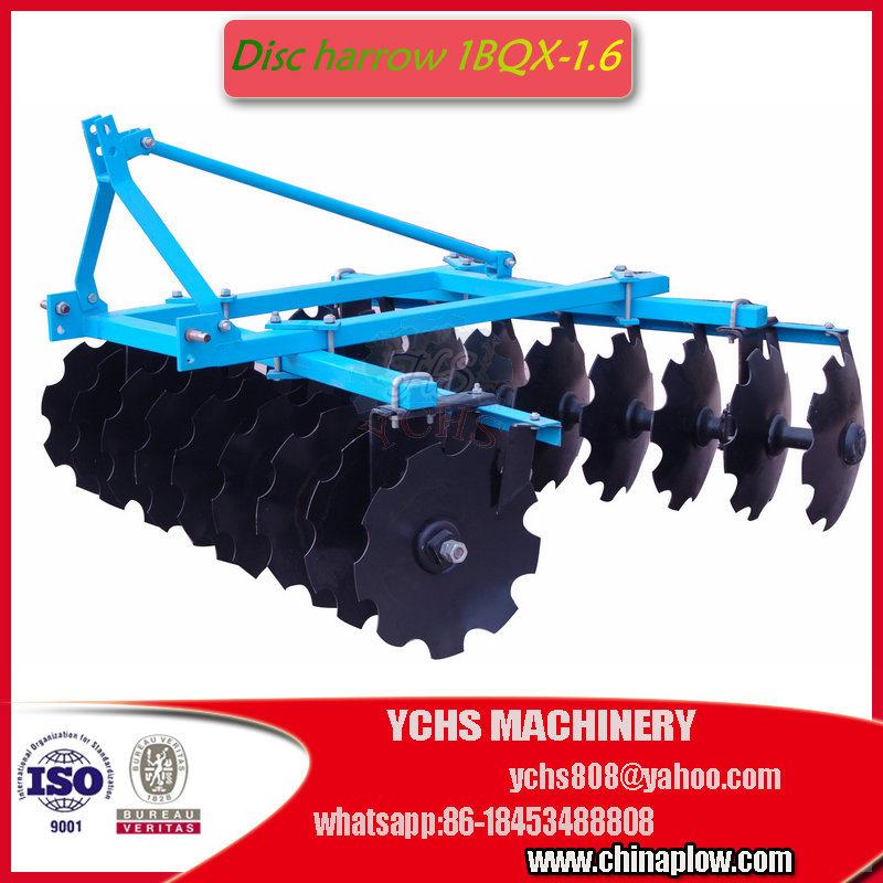 Agricultural Tiller Light Duty Disc Harrow Mounted Jm Tractor