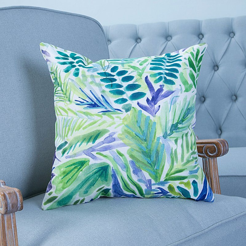 Digital Print Decorative Cushion/Pillow with Botanical&Floral Pattern (MX-19)