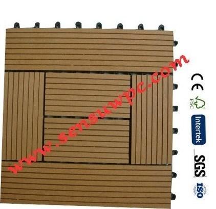 Outdoor Easy Installation DIY WPC Tile, WPC DIY Decking