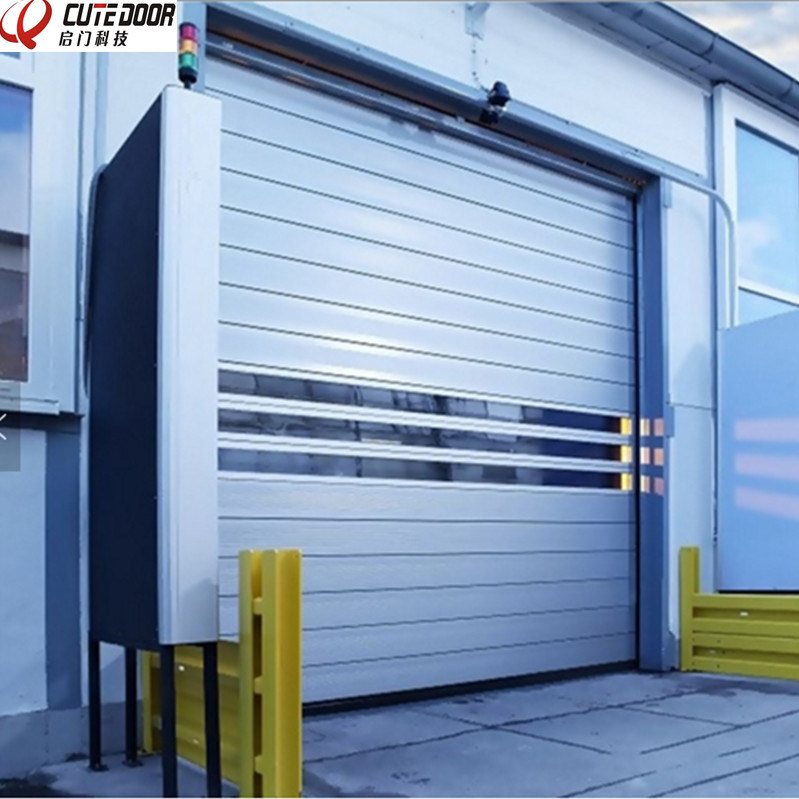 Aluminium Spiral Insulated Hard Material High Speed Rolling Door