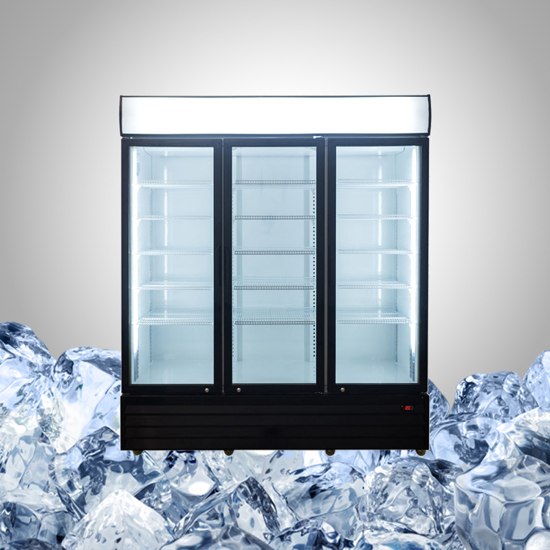 3 Glass Door Commercial Refrigerator