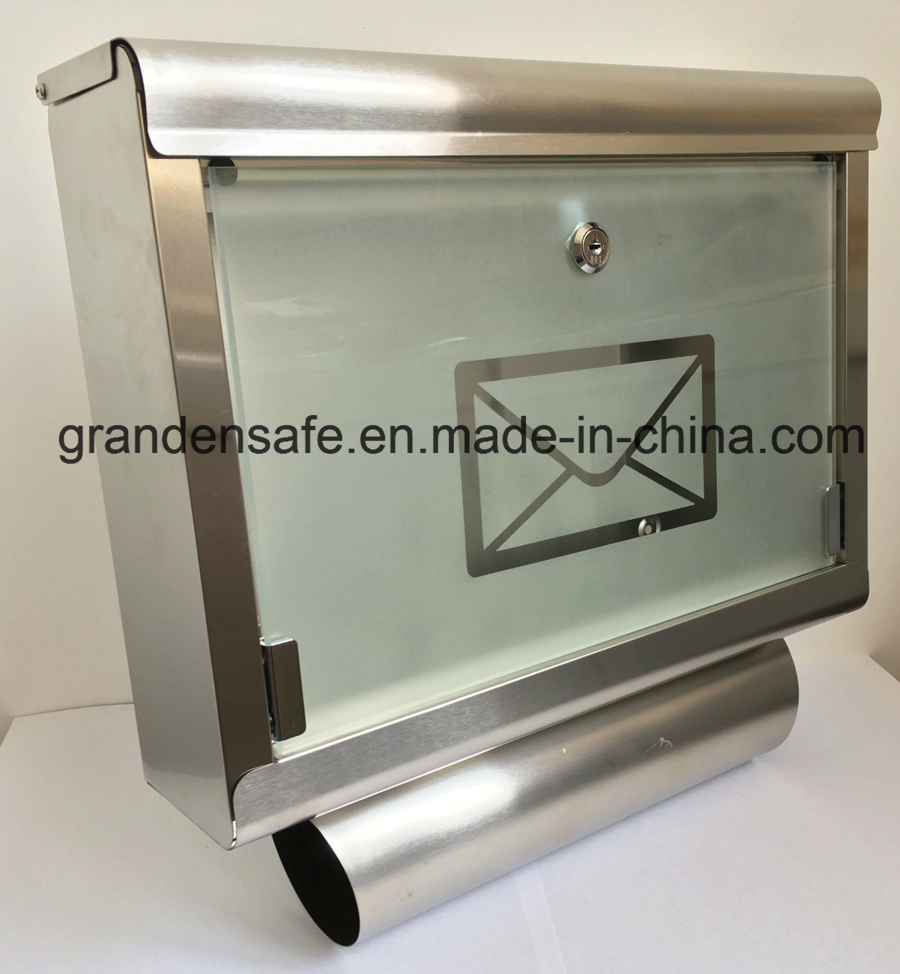 Stainless Mailbox with Glass Door (GL-17)