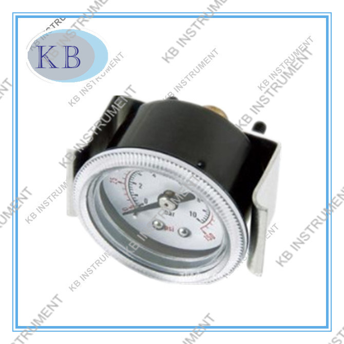 63mm Back Connection Cammon Pressure Gauge with U Clamp