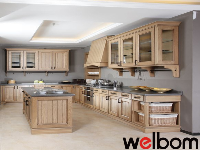 2015 [ Welbom ] Island Style Solid Wood Kitchen Cabinetry