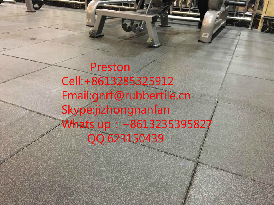 Rubber Flooring Tile, Gym Flooring Mat, Playground Antishocking Carpet