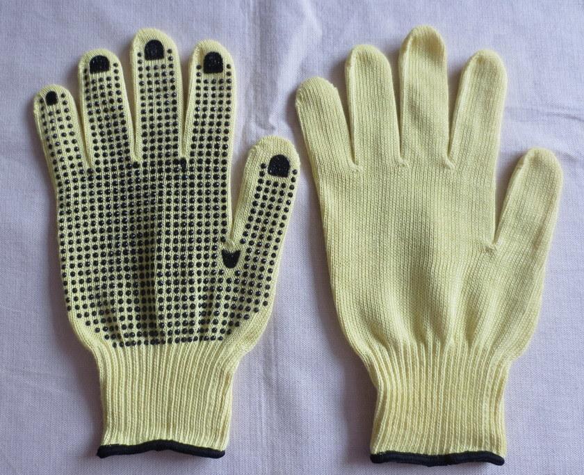 10g Kevlar PVC Dotting Glove