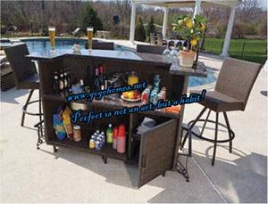 China Gh Bar 01 Gogohome Rattan Wicker Set Garden Table Chair Outdoor