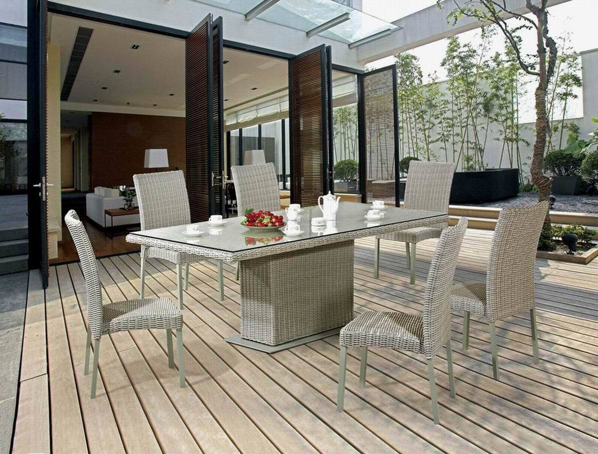 2015 Garden/Resin Wicker Furniture Outdoor Table and Chair