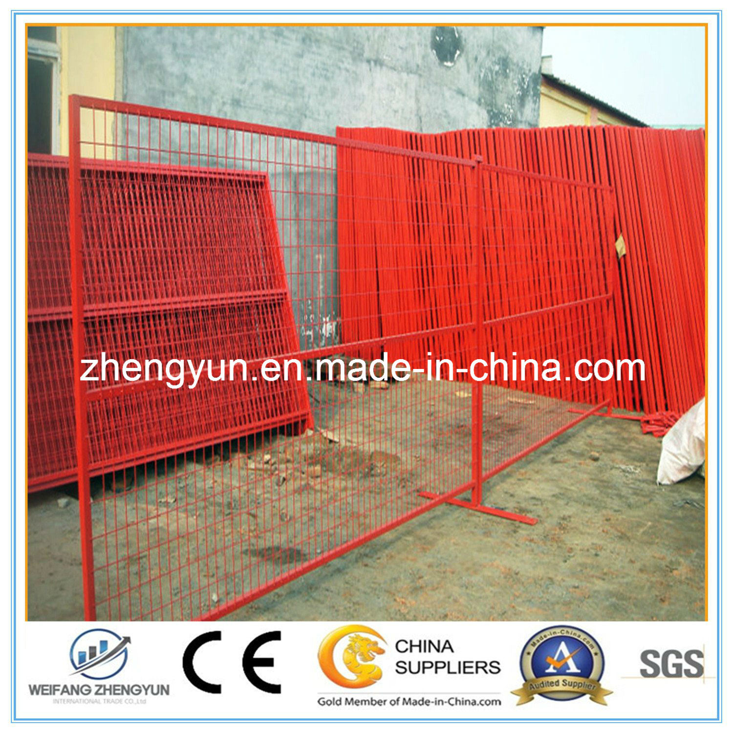 Hot Sale PVC Coated Fence Temporary Fence with Wire Mesh Fence