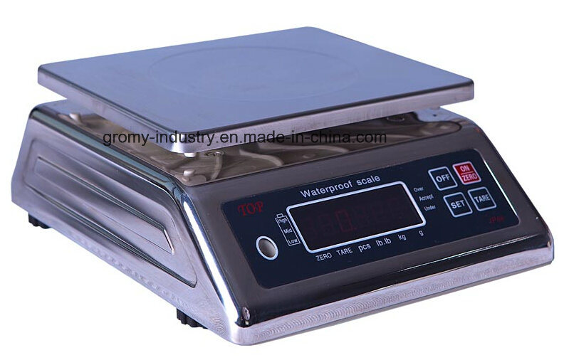 Electronic Waterproof and Stainless Steel Weighing Scale 6kg/15kg/30kg
