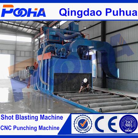H Beam Roller Conveyor Wheel Shot Blasting Machine Steel Profiles Machine