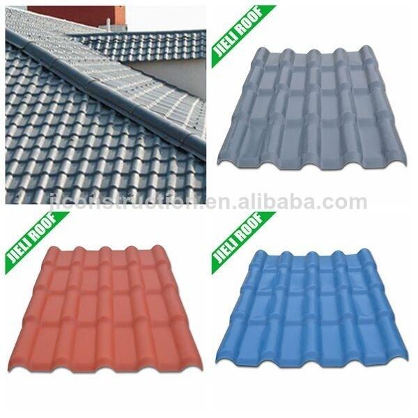 Guyana Residential Houseing Anti-UV PVC Roof Tile